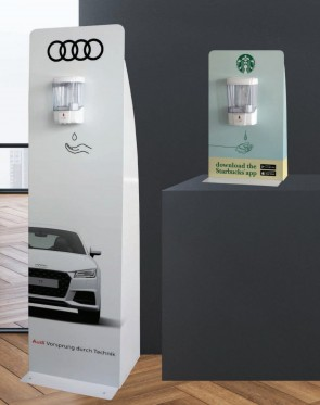 Branded Freestanding and Table top Hand Sanitiser Stations