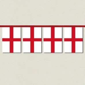 St George Cross England Bunting - 10m Length with 32 Pennants
