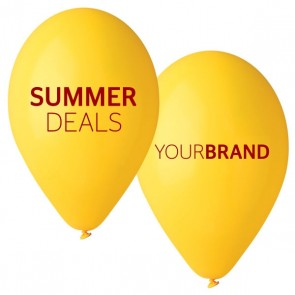Summer Deals Printed Latex Balloons Yellow