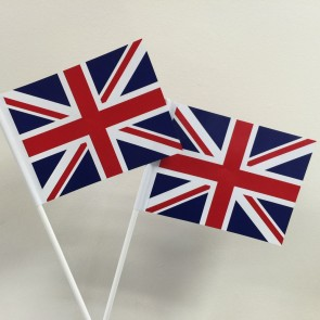 Union Jack Hand Waving Flags