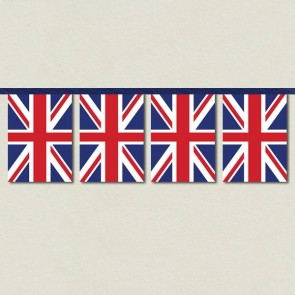 Union Jack Bunting - 10m Length with 32 Pennants