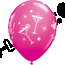 Hen Night Bubbly Latex Balloons in Wild Berry (25 Pack)