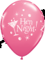 Hen Night Bubbly Latex Balloons in Rose (25 Pack)