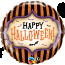 18 Inch Foil Balloon Halloween Stripes