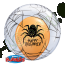 24 Inch Deco Bubble Balloon Spider's Web Stuffed with an 11 Inch Latex