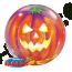 22 Single Bubble Balloon Jack O Lantern Front
