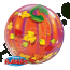 22 Single Bubble Balloon Jack O Lantern Back