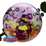 22 Single Bubble Balloon Flying Witch Spooky Brew Back