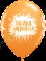 11 Inch Latex Balloons Halloween Haunted Skull Orange Front