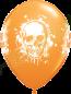 11 Inch Latex Balloons Halloween Haunted Skull Orange Back