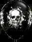 11 Inch Latex Balloons Halloween Haunted Skull Back