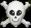 32 Inch Foil Balloon Happy Skull