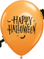 11 Inch Latex Balloons Halloween Moon & Bats Orange