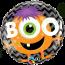 18 Inch Foil Balloon Boo! Monster Chevron