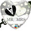 "Qualatex 18"" Foil Balloon Mr & Mrs (Black, Silver & White)"