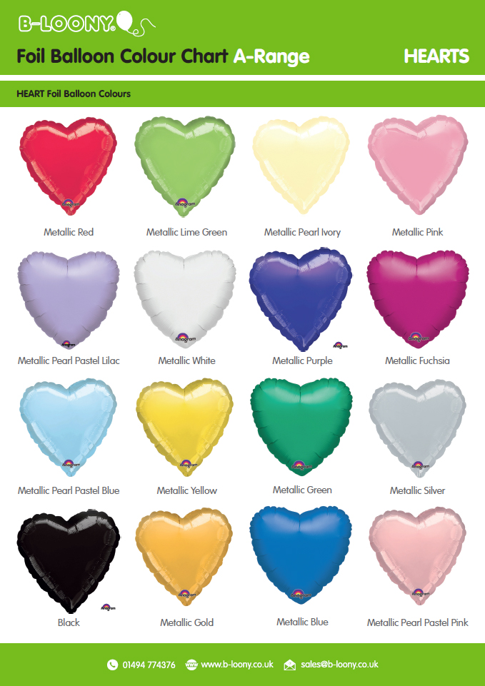 A Range Heart Foil Balloons