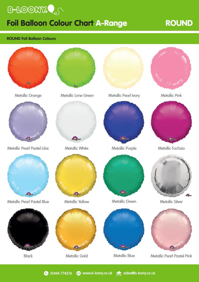 A Range Round Foil Balloons
