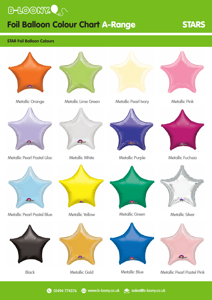 A Range Star Foil Balloons