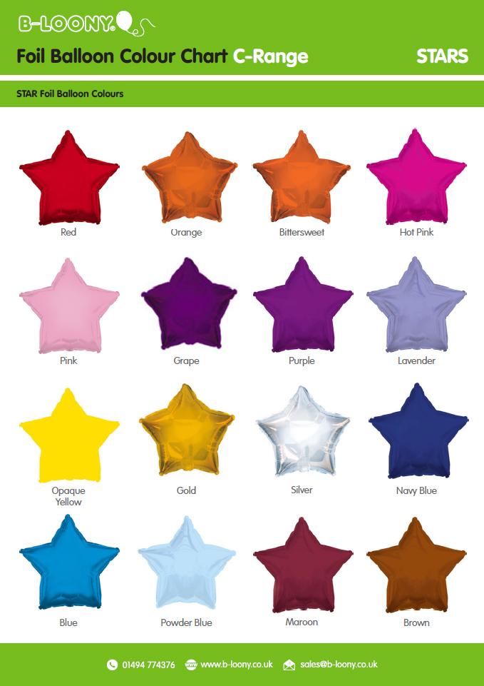 C Range Star Foil Balloons