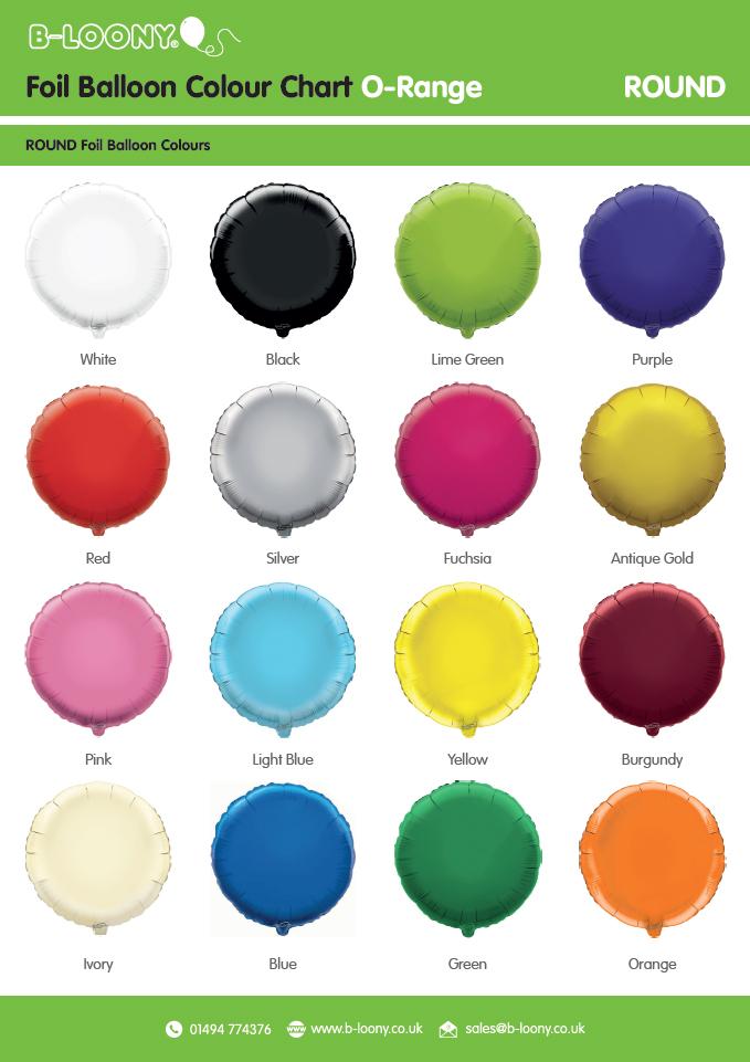 O Range Round Foil Balloons