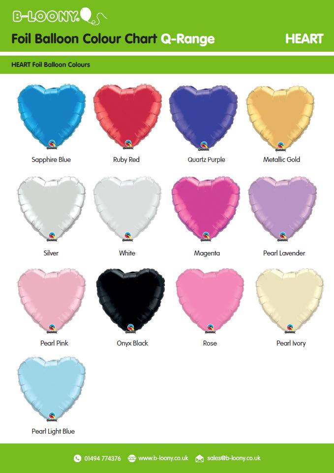 Q Range Heart Foil Balloons