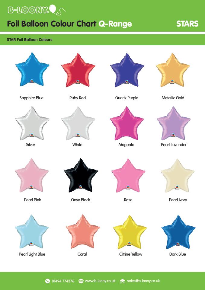 Q Range Star Foil Balloons