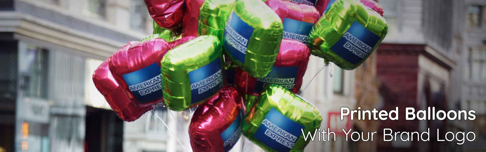 Promotional Balloons for American Express used for a High Street Handout