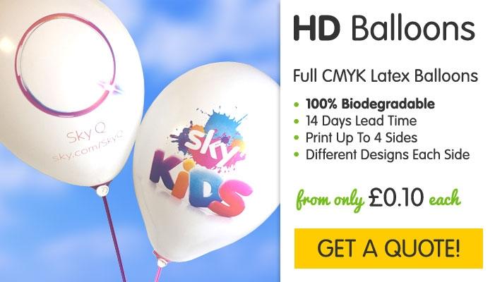 HD Printed Multicolour Latex Balloons