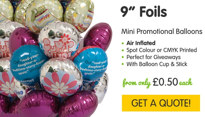 Mini Promotional Foil Balloons