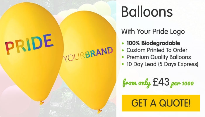 Pride Branded Latex Balloons