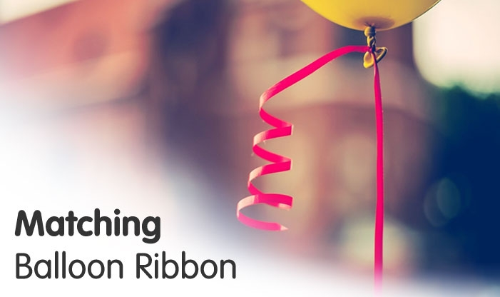 Matching Balloon Ribbon