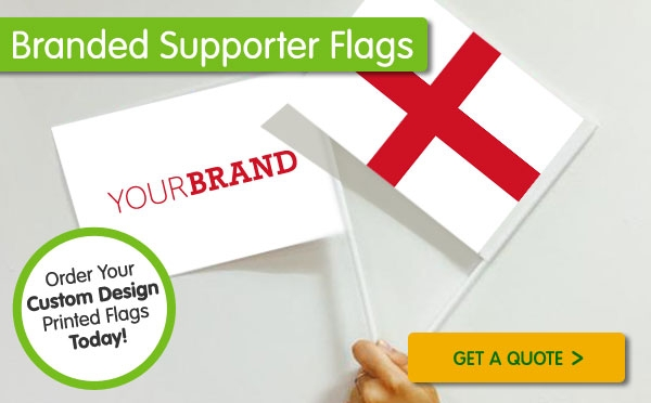 World Cup Branded Hand Flags