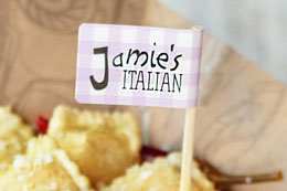 Food Flags for Jamie's Italian