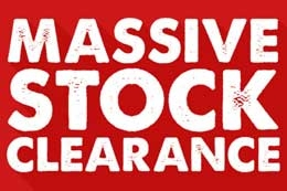 Massive Stock Clearance