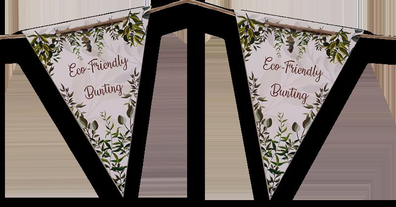 Eco Friendly Bunting - Paper & Wool Thread