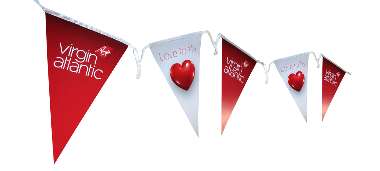 Virgin Atlantic Branded Bunting