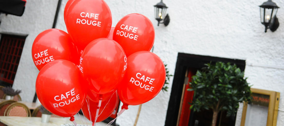 Printed Balloons for Cafe Rouge