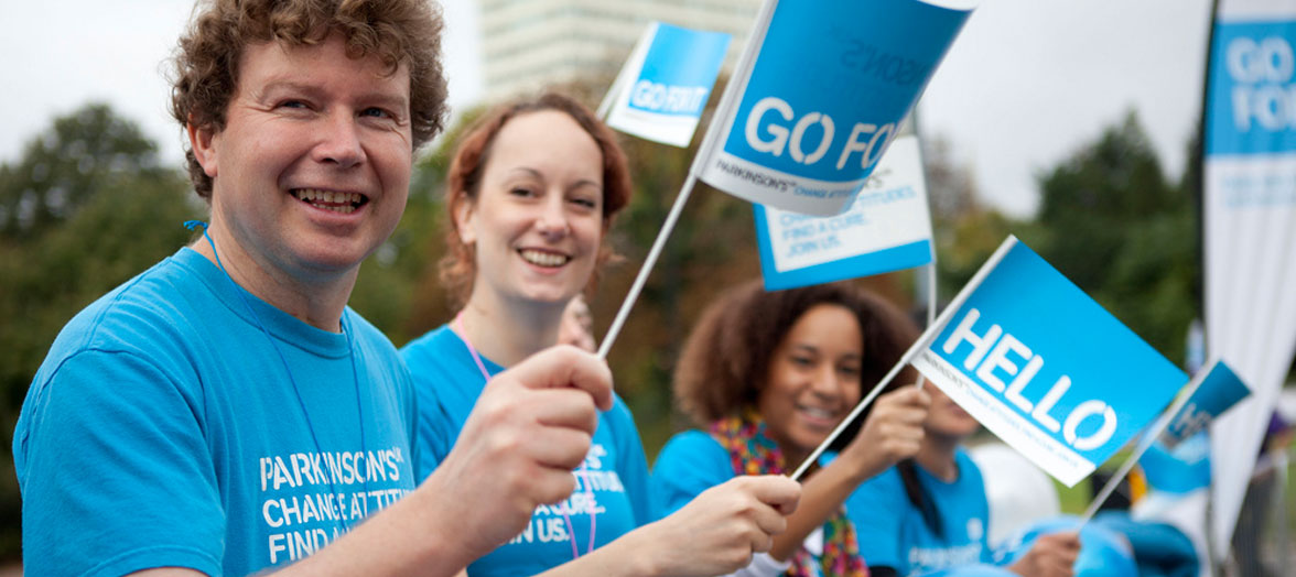 Hand Waving Flags for Parkinson's UK
