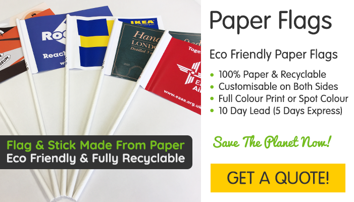 Printed Paper Flags